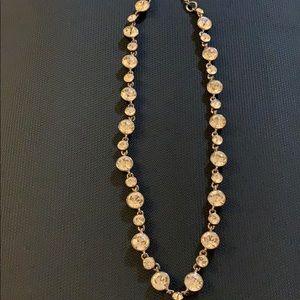 Givenchy Rose Gold Rhinestone Necklace